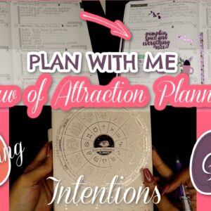 PLAN WITH ME | LAW OF ATTRACTION PLANNER | MANIFESTING + GOALS + INTENTIONS | Life With Vicki