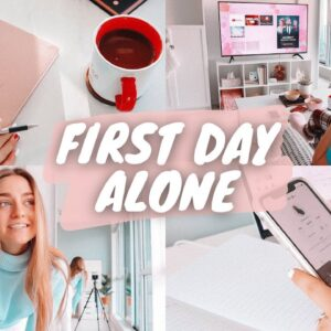 first day living ALONE in my new apartment !!