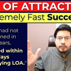 MANIFESTATION #219: 🔥 EXTREMELY FAST Success (in 15 days) with Law Of Attraction | MASSIVE!!