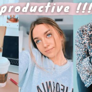 a PRODUCTIVE week in my life! (youtuber & actress)