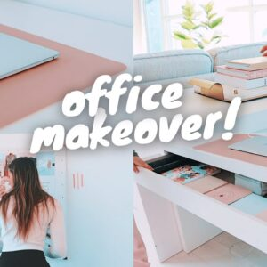 OFFICE MAKEOVER !! (organizing, decorating, new furniture)