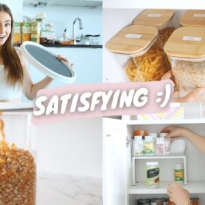 organize my kitchen with me !! *very satisfying*