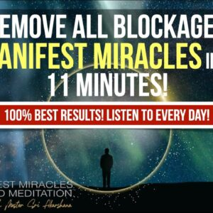 100% Manifest Miracles, Calm The Mind, & Remove All Negative Blocks   11 Minute Guided Meditation